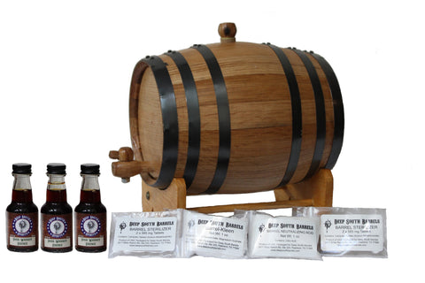 3-Liter American White Oak Barrel Irish Whiskey Kit with Cleaning Kit