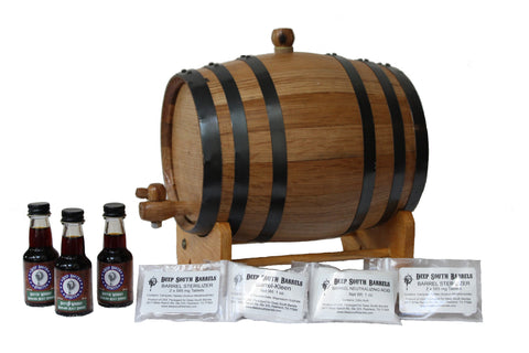 3-Liter American White Oak Barrel Scotch Whisky Kit with Cleaning Kit