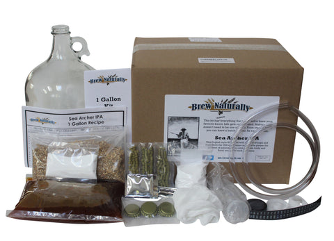 Brew Naturally IPA One Gallon Homebrew Starter Kit