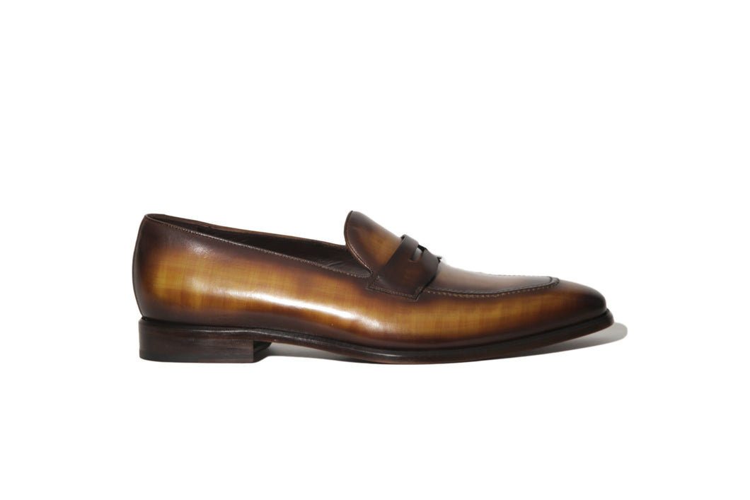 Masterpiece - Cognac Patina Slip on