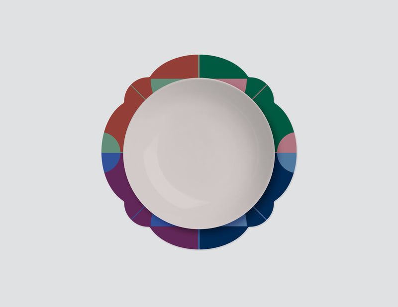 La Lune Rainbow Charger Plates. Set of 4