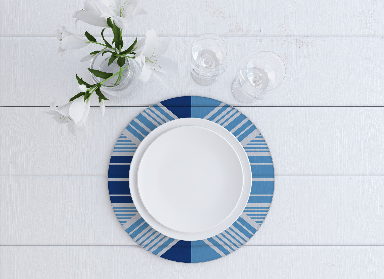 Juana Blue Charger Plate - Set of 4