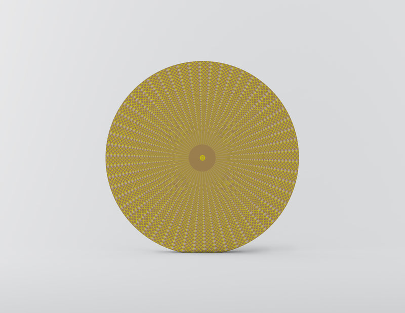Squama Yellow Mozaiko Charger Plates. Set of 4
