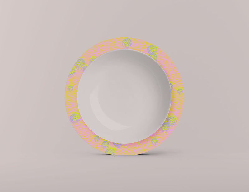 Berry Punch Blush Charger Plates. Set of 4