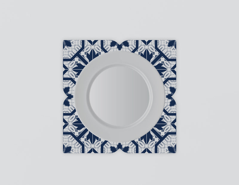 Joia Indigo Mozaiko Charger Plates. Set of 4