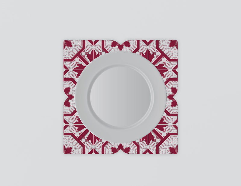 Joia Red Mozaiko Charger Plates. Set of 4