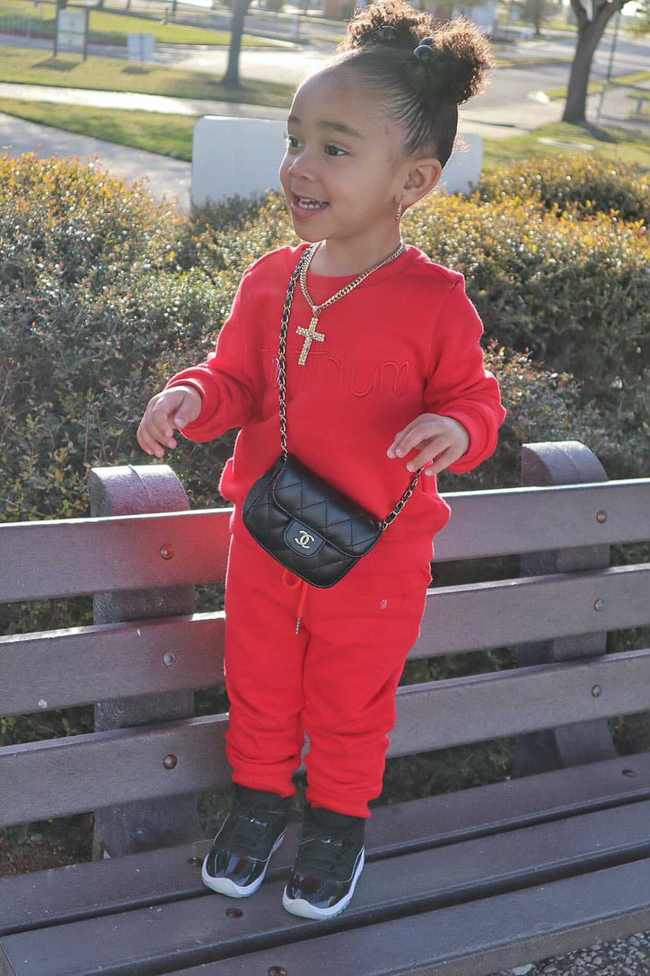 Tantrum Sweatsuit children's boutique clothing online...cool clothes for boys ...girl and boy clothes..sweatpant sets..baby girl red sweatsuit..baby boy red sweatsuit