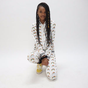 Smiley Rainbow Tracksuit cheap girls clothes