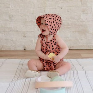 little & lively romper - clay dot (SS19)