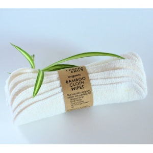 cheeks ahoy organic bamboo cloth wipes 6pk
