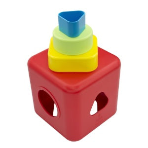 bioserie shape sorting & stacking cube