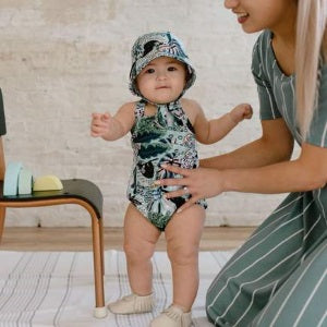 little & lively romper - chill sloth (SS19)