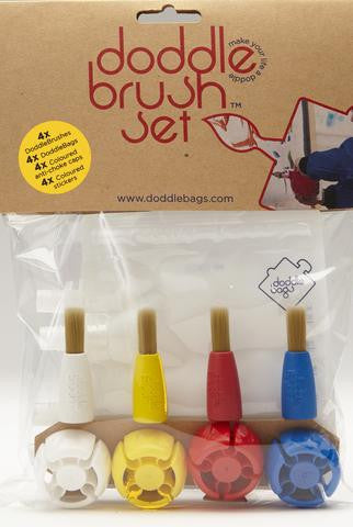 doddlebags - 4pk artist brush set
