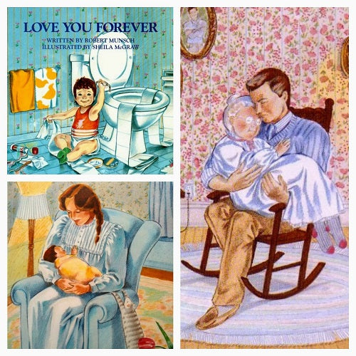 love you forever book baby on the hip