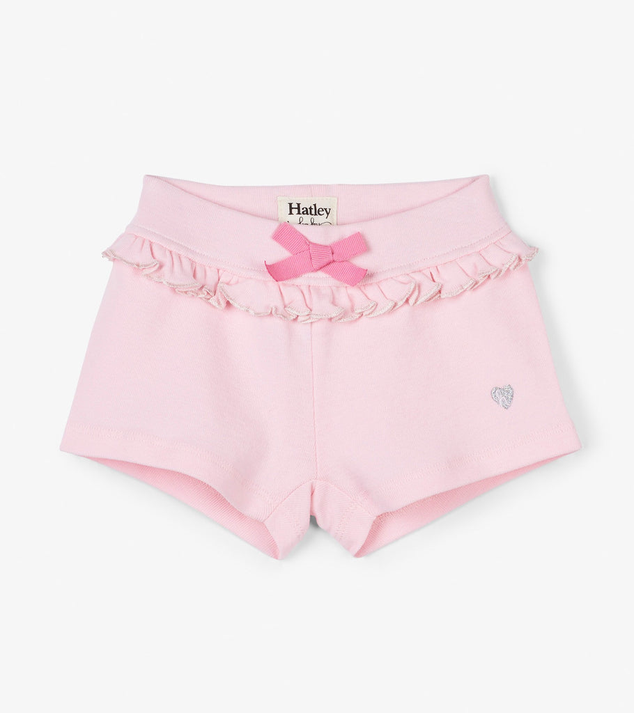 Hatley Pale Rose Ruffle Baby Shorts