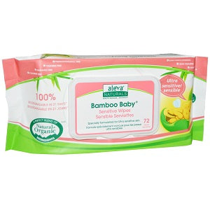 aleva bamboo sensitive wipes 72pk