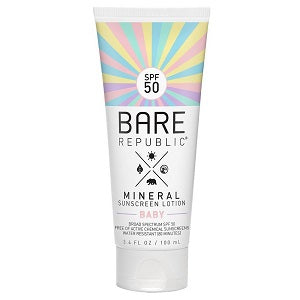 bare republic SPF 50+ baby sunscreen lotion