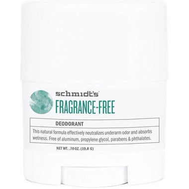 schmidt's 0.7 oz travel size deodorant stick
