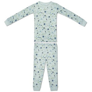 Apple Park Mint Moon & Stars Organic Cotton Pajamas