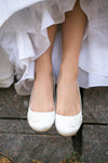Toe Lace Bridal Flats