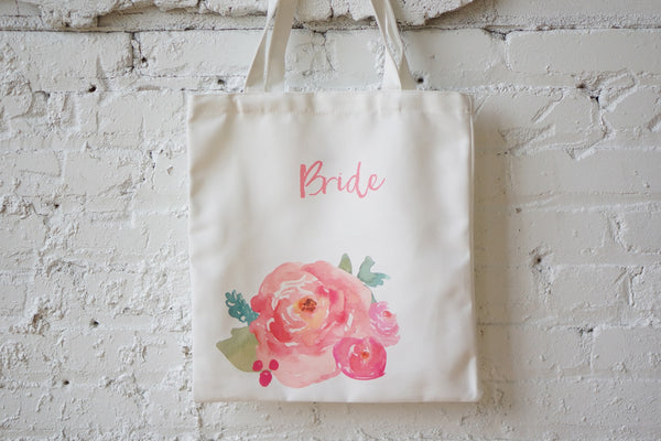 Watercolor Floral Tote