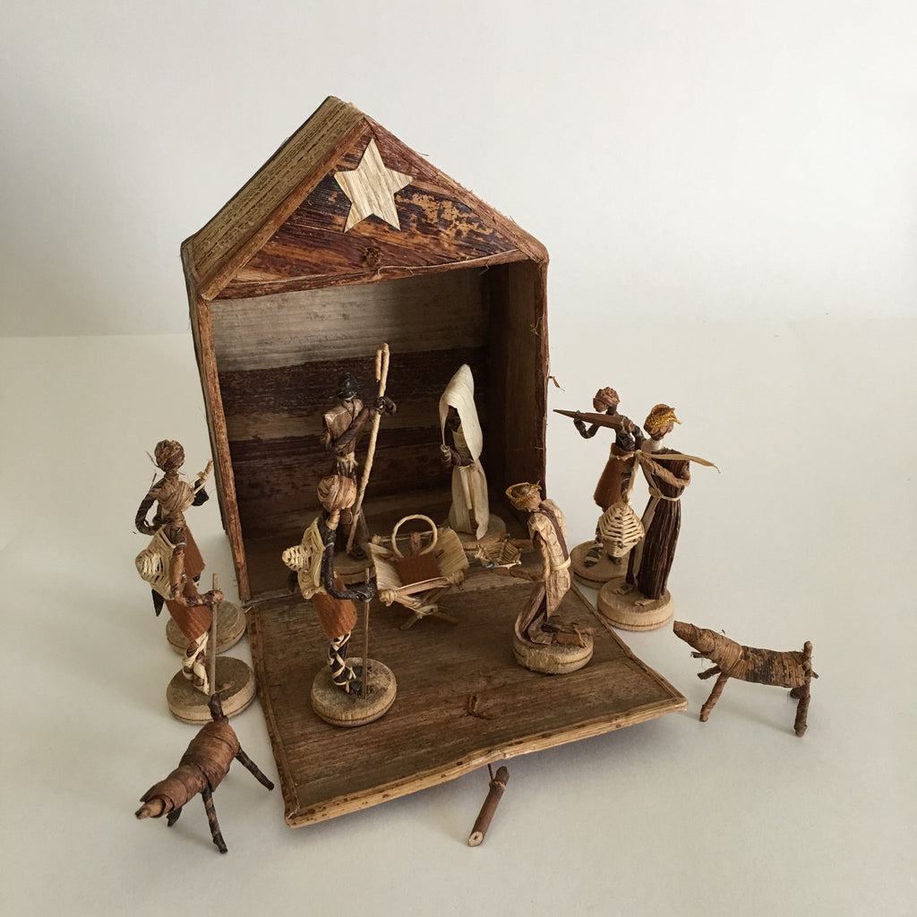 Hand-Crafted Nativity Scene