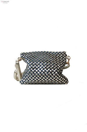 Denim Diamante Purse - shopzambony