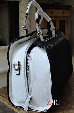 Lena Black & White Coach - shopzambony
