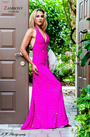 Pink Lucinda Gown - shopzambony