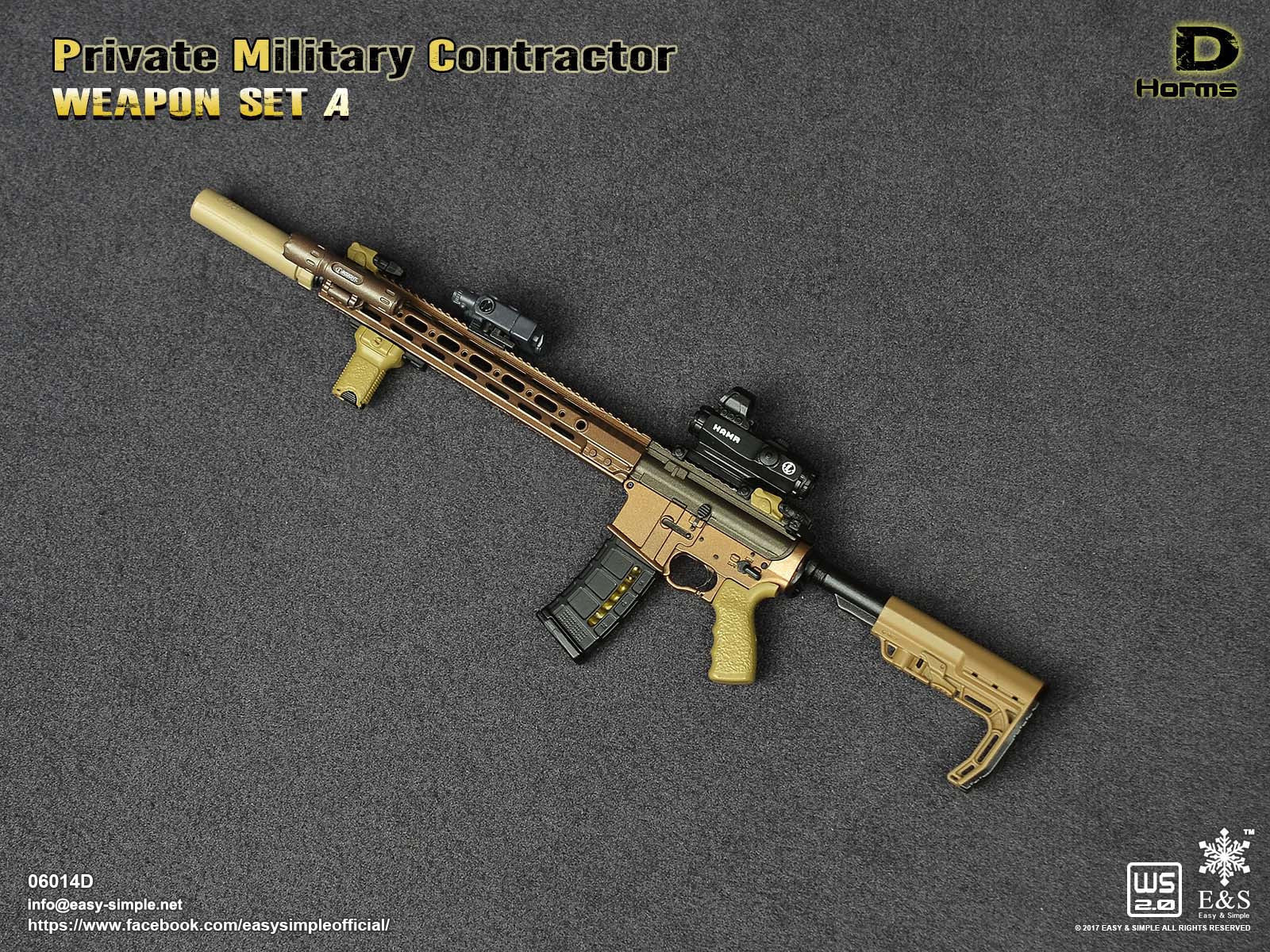 PREORDER E&S Private Military Contractor HOMS Rifle Set Mint in Box