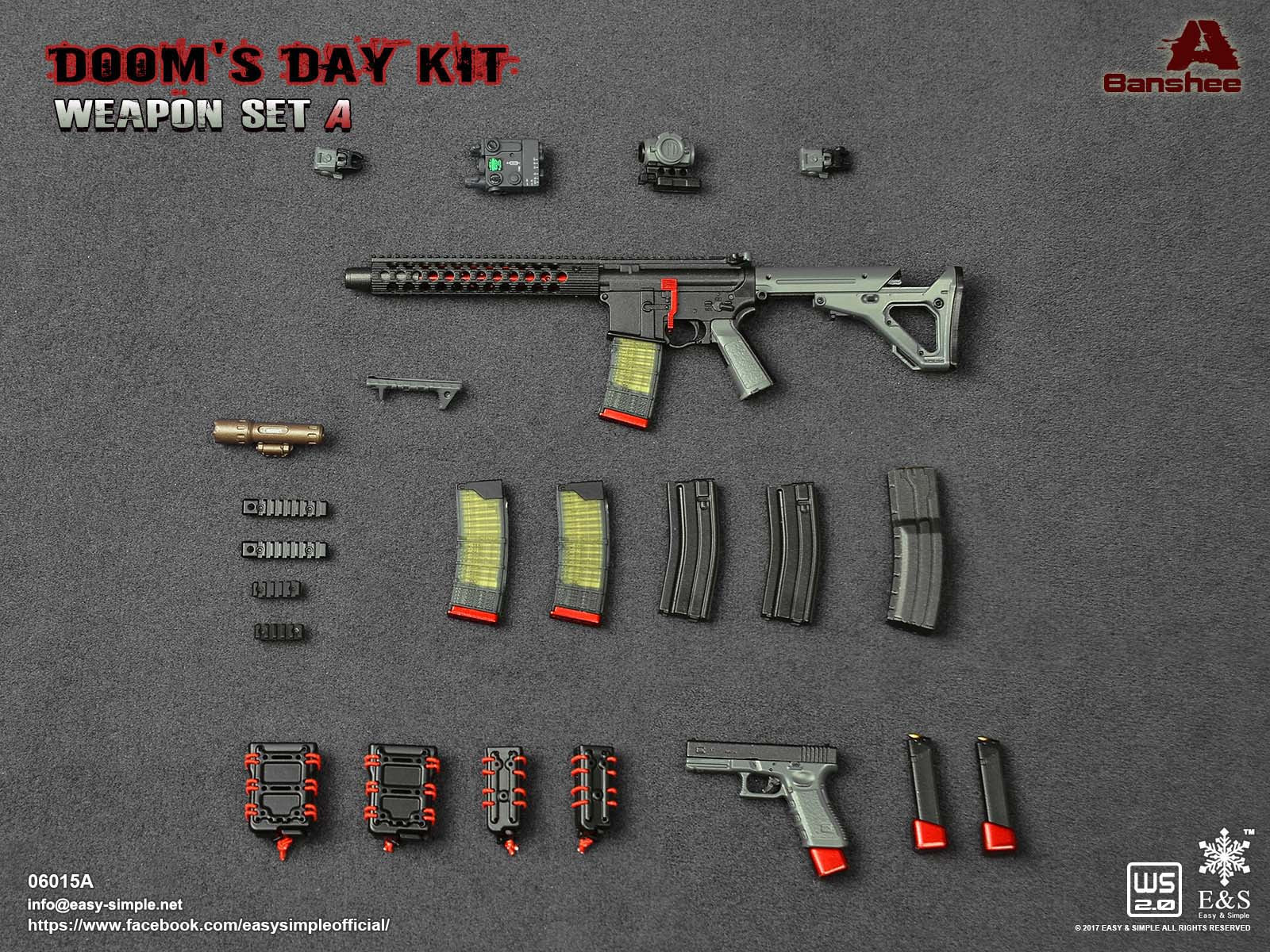 PREORDER E&S Doom's Day Kit Weapon Set BANSHEE Rifle Mint in Box
