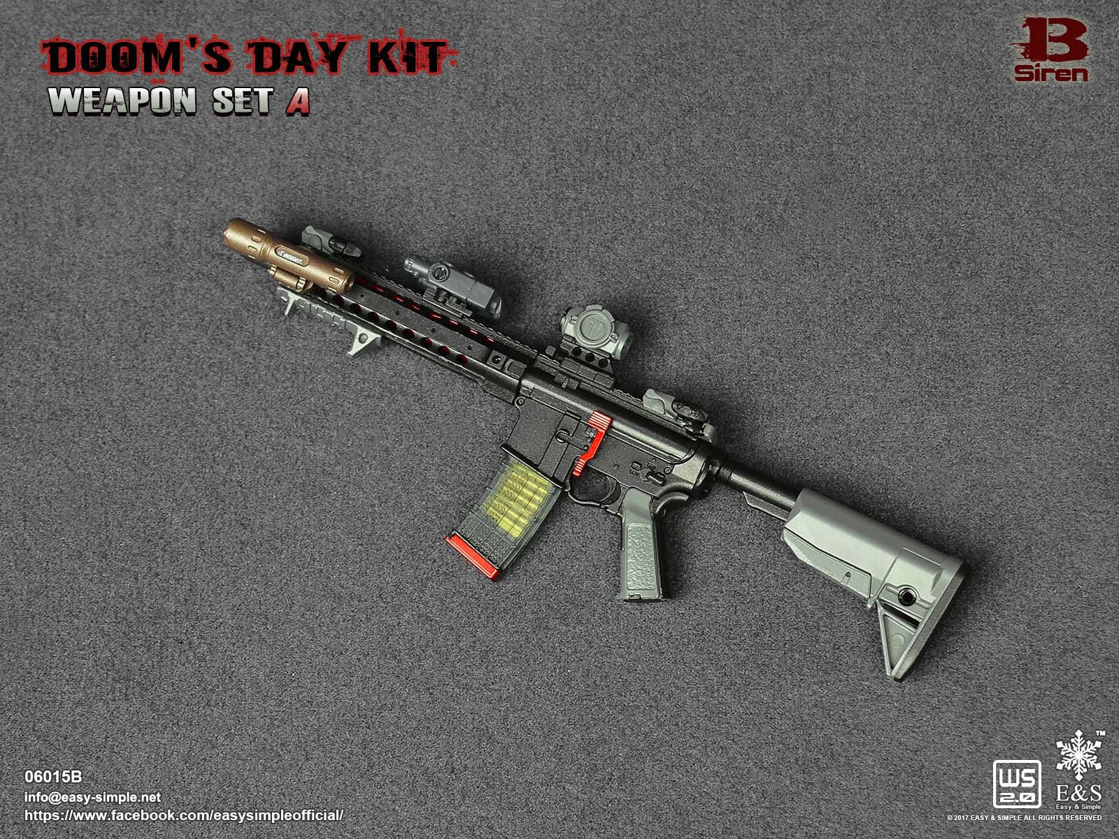 PREORDER E&S Doom's Day Kit Weapon Set SIREN Rifle Mint in Box