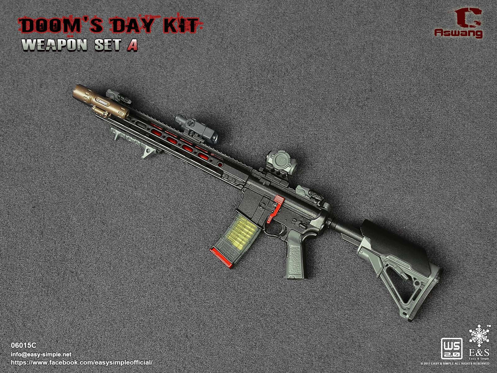 PREORDER E&S Doom's Day Kit Weapon Set ASWANG Rifle Mint in Box