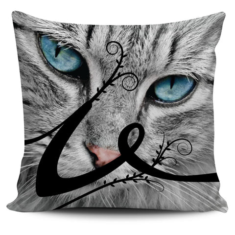 Love Cat Pillow Slips (Black Letters)