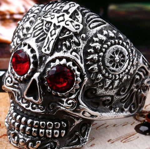 $5 Gothic Skull Ring - Special Promotion Stainless Steel Gothic Skull Ring