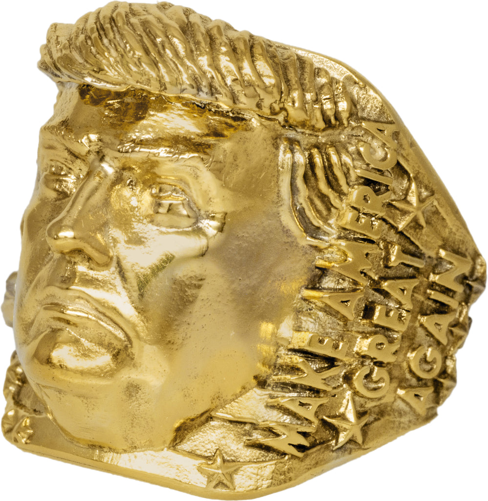 18k Solid Gold President Trump Collectors Rings