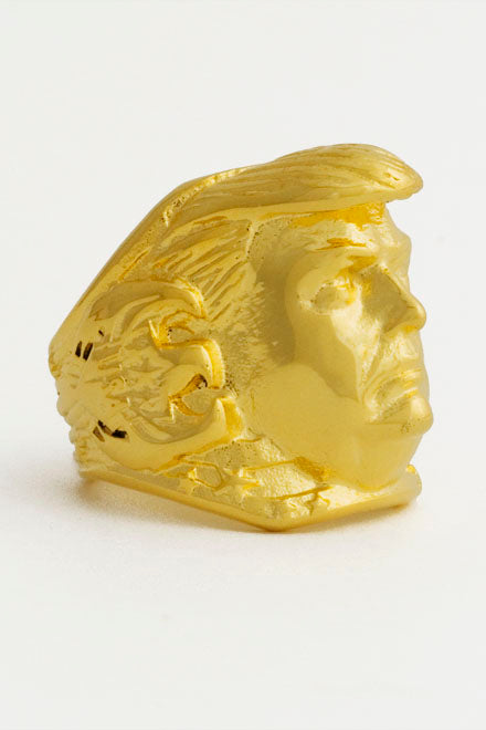 *Limited Edition* Stainless Steel All 18k Gold Plated President Trump Ring