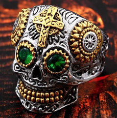 FREE Stainless Steel Gothic Skull Ring