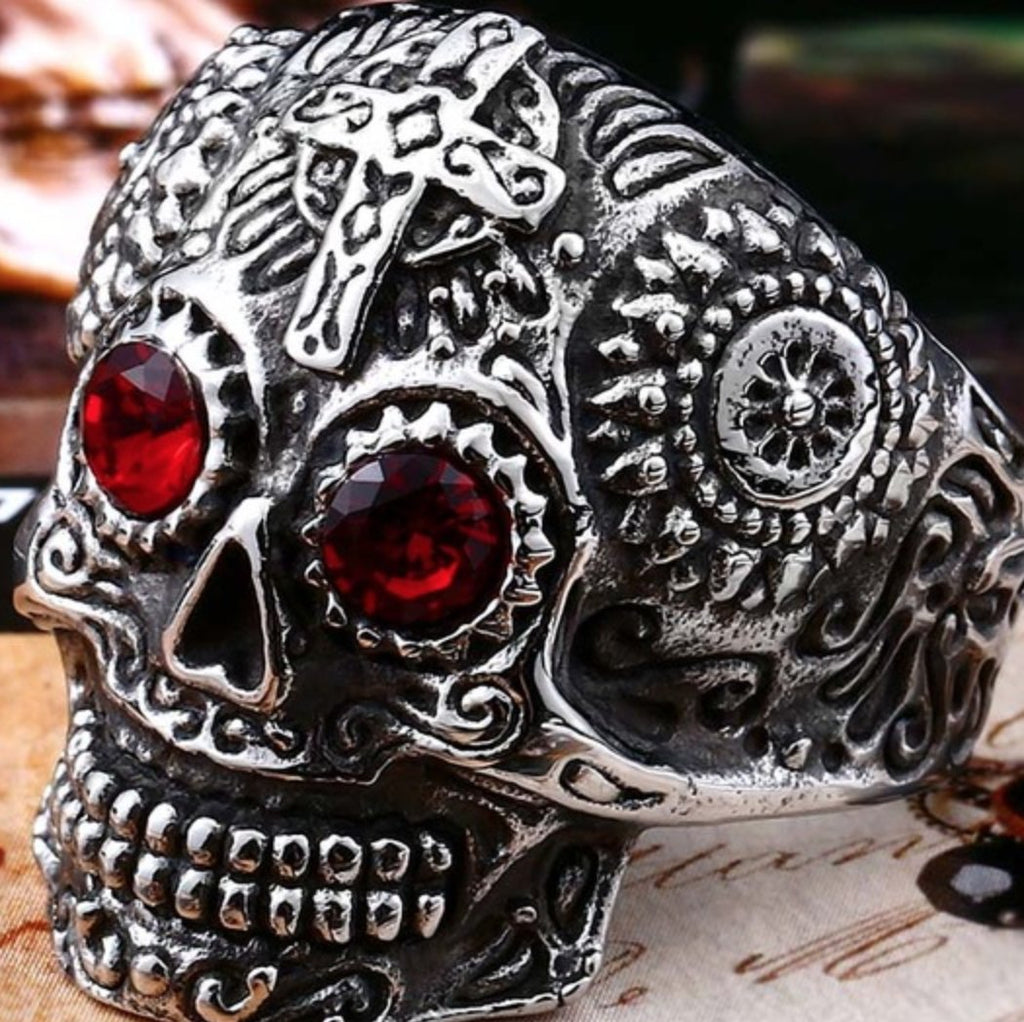 Gothic Skull Ring - Stainless Steel Gothic Skull Ring
