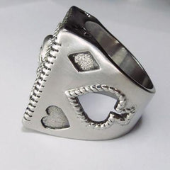 Sterling Silver Ace of Spades Ring