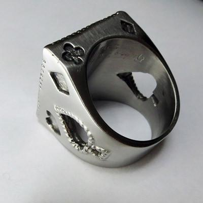 Pirate Skull Ring - Sterling Silver Ace Of Spades Ring