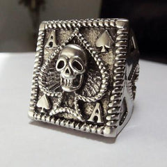 Skull Ring - Stainless Steel Ace Of Spades Ring