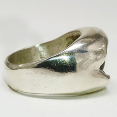 Stainless Steel Green Dragon Eye Ring