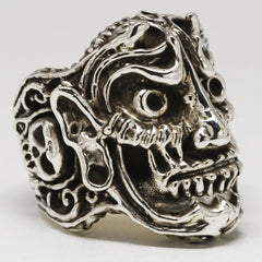 Stainless Steel Sinister Skull Ring