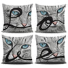 Image of Love Cat Pillow Slips (Black Letters)
