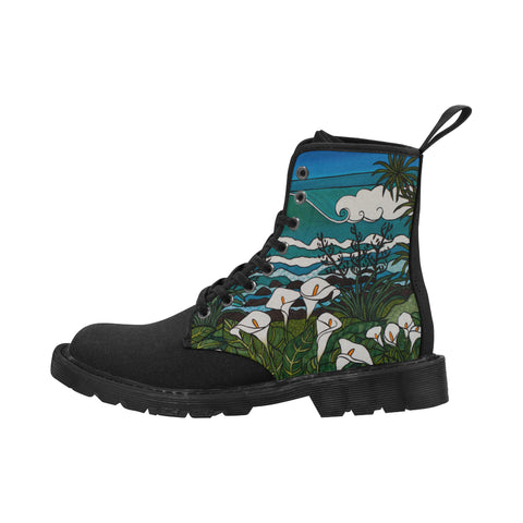 Beyond the Lily Field with Black Sole Boots