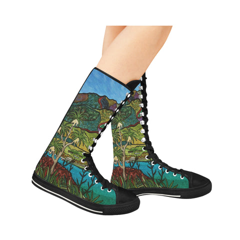 Aroha Long Canvas Boots