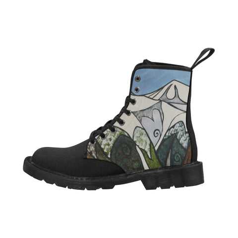 Southern Alps Black Sole Boots