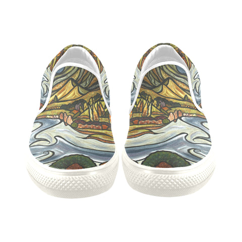 Te Mata Peak Canvas Slip on Shoes