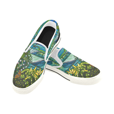 Monarch Canvas Slip on Shoes